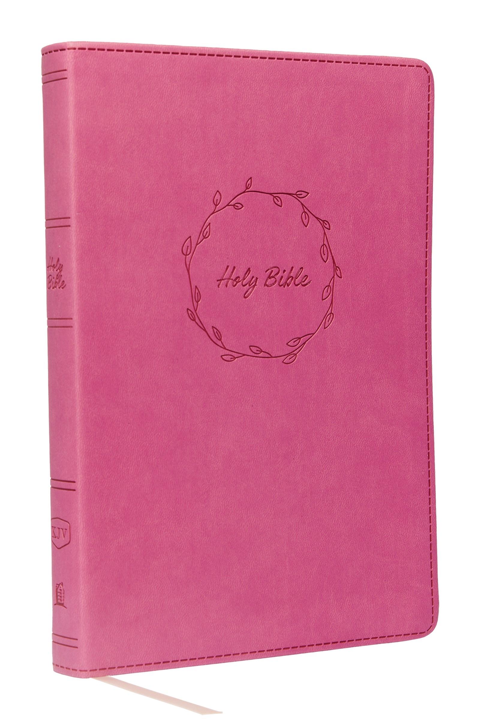 KJV Value Thinline Bible/Large Print (Comfort Print)-Pink Leathersoft