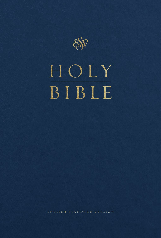 ESV Pew And Worship Bible/Large Print-Blue Hardcover