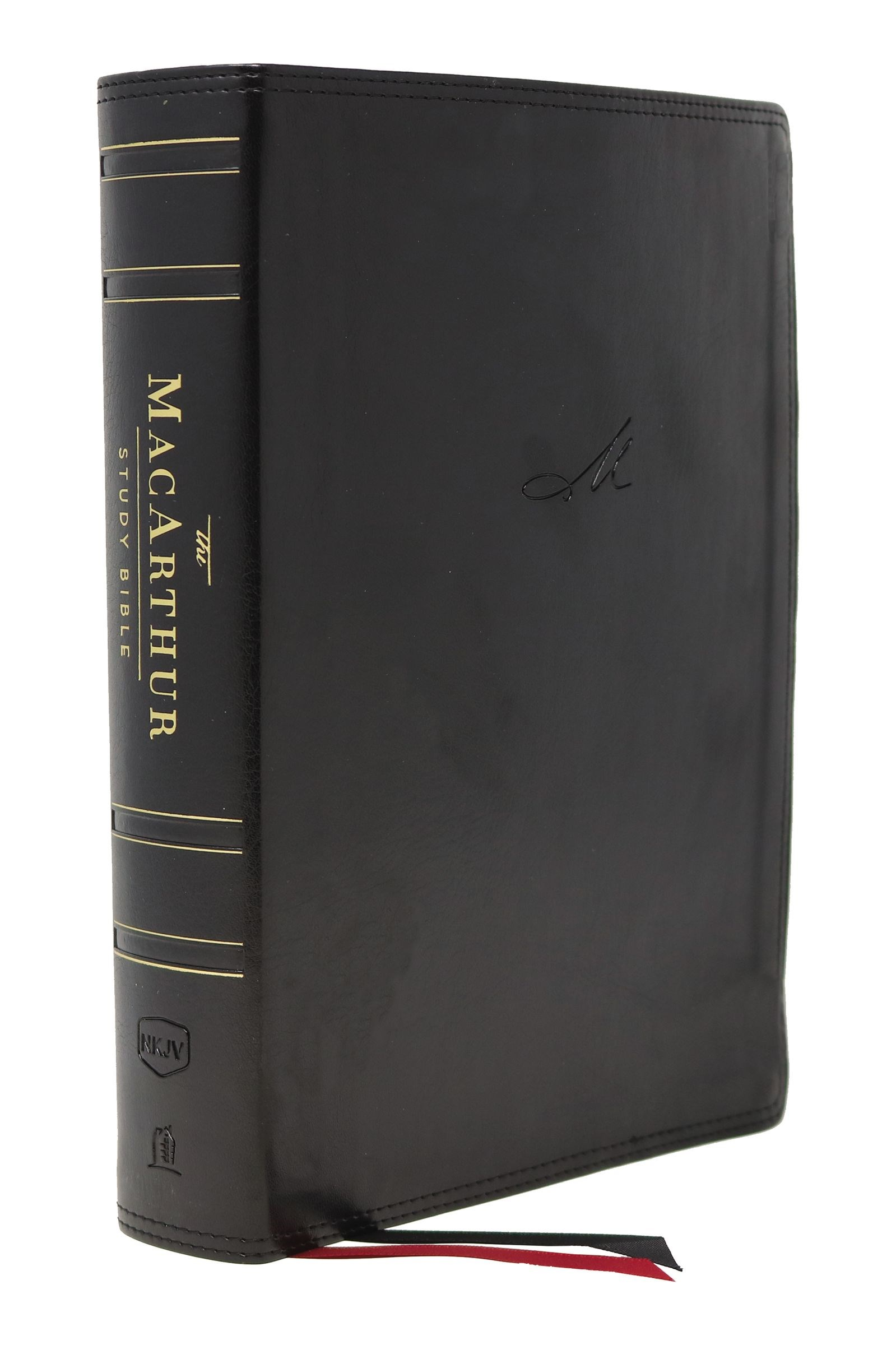 NKJV MacArthur Study Bible (2nd Edition) (Comfort Print)-Black Leathersoft