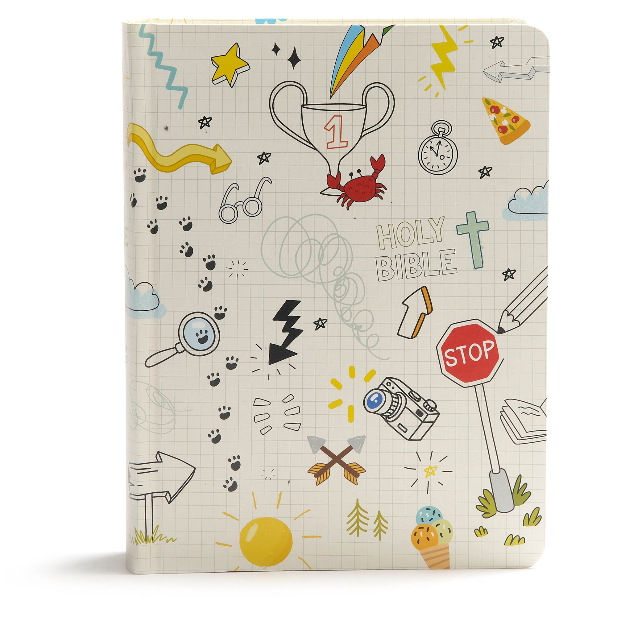 CSB Journal And Draw Bible For Kids-White Hardcover