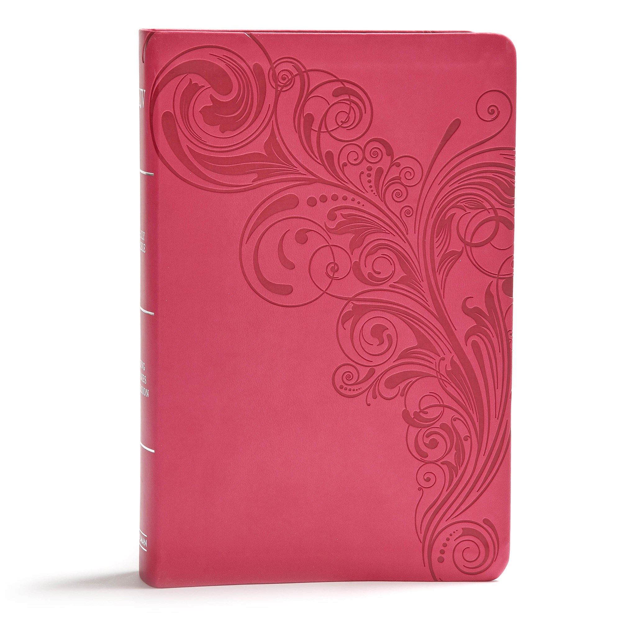 KJV Giant Print Reference Bible-Pink LeatherTouch Indexed