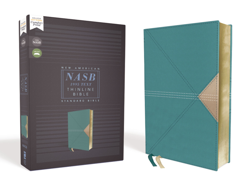 NASB Thinline Bible (Comfort Print)-Teal Leathersoft