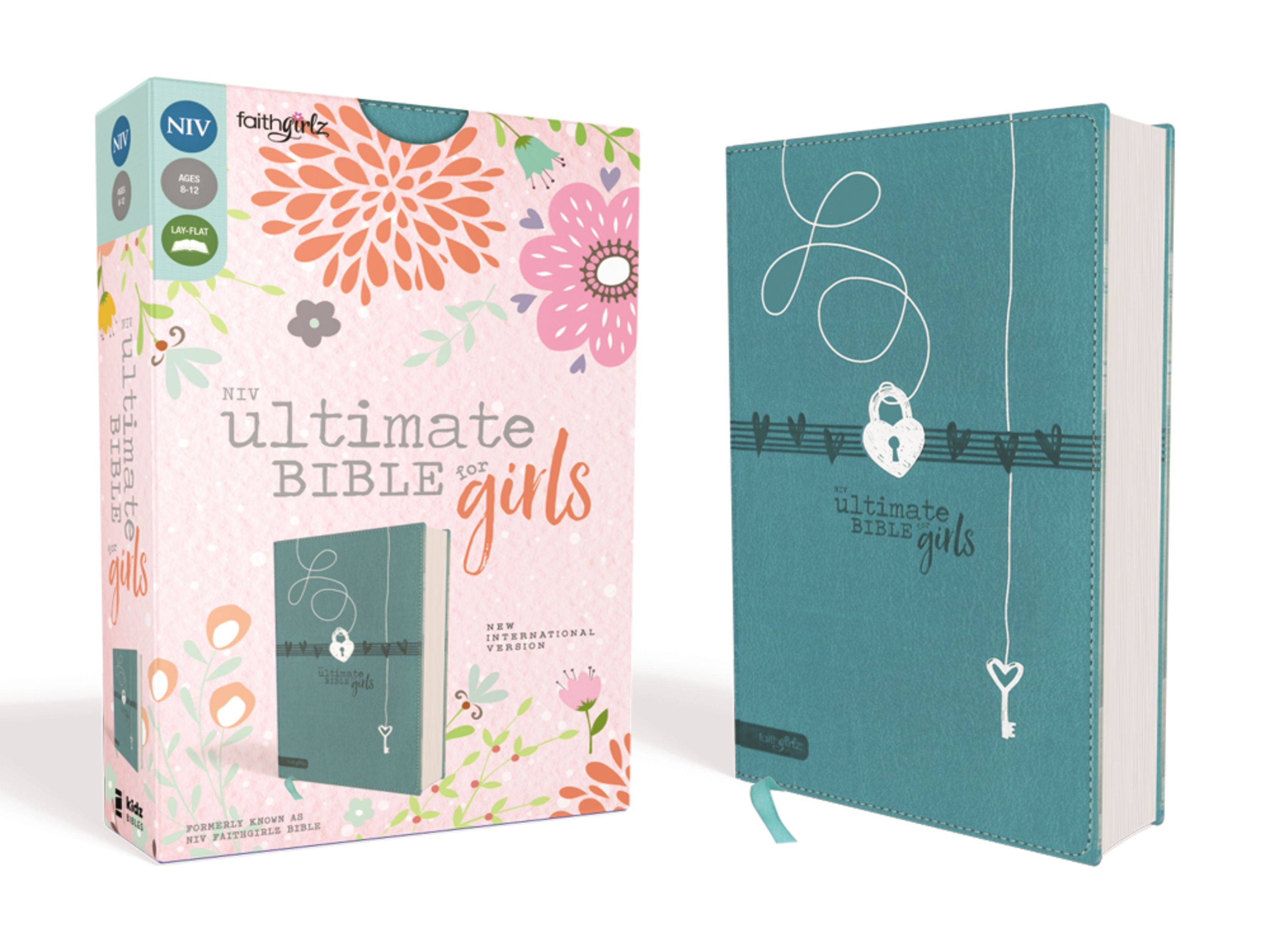 NIV Ultimate Bible For Girls-Teal Leathersoft
