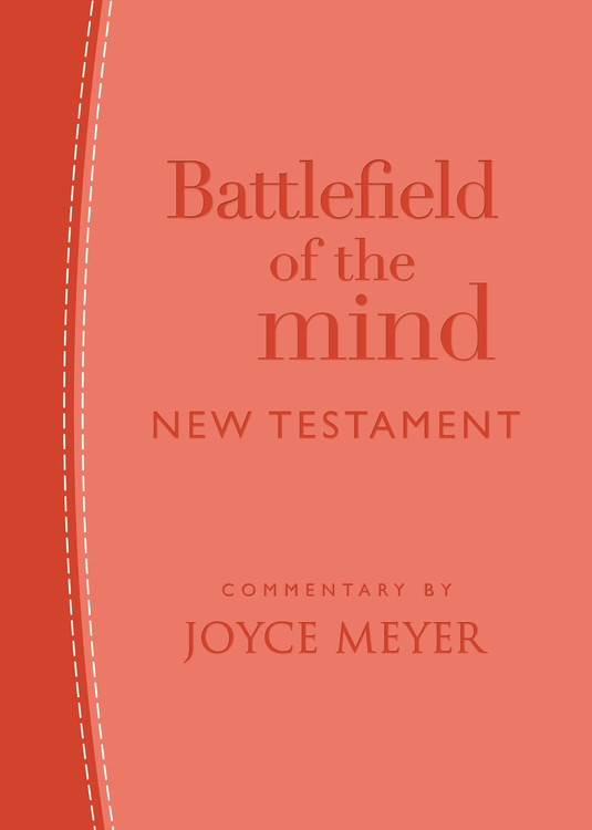 Amplified Battlefield Of The Mind New Testament-Coral Imitation Leather
