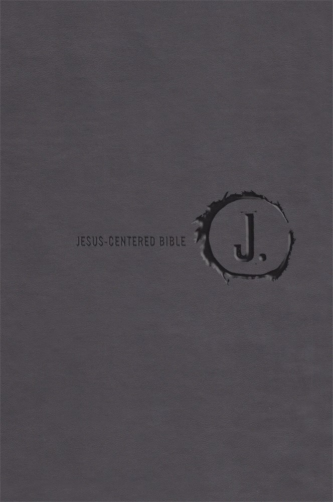 NLT Jesus-Centered Bible-Charcoal Imitation Leather (Second Edition)