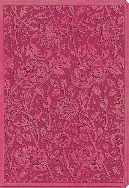 ESV Student Study Bible-Berry Floral Design TruTone