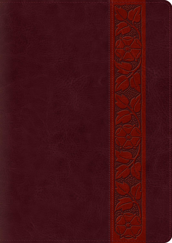 ESV Study Bible/Large Print-Mahogany Trellis Design TruTone Indexed