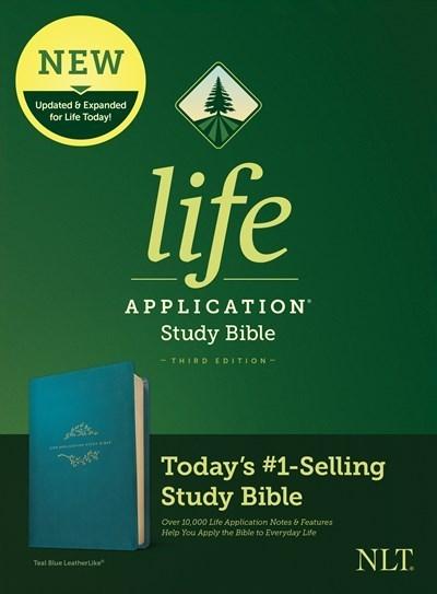NLT Life Application Study Bible (Third Edition)-Teal Blue LeatherLike