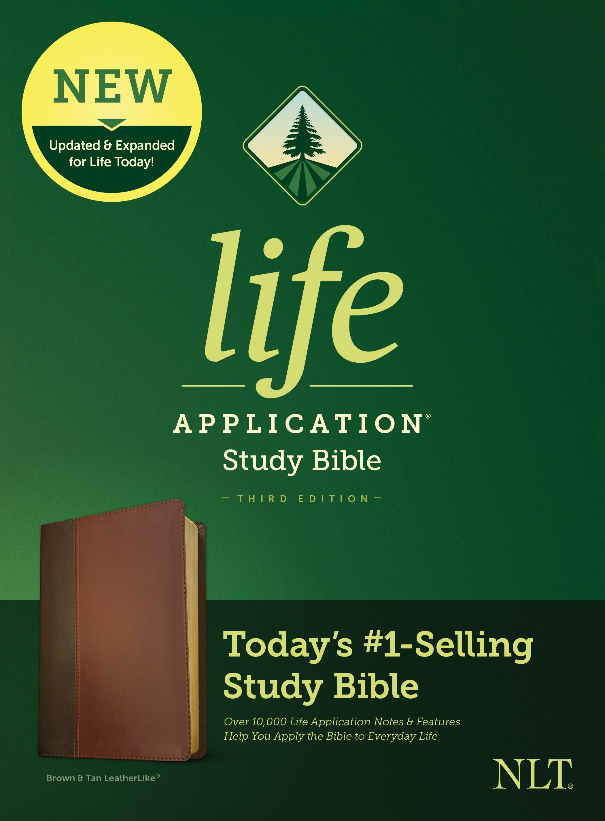 NLT Life Application Study Bible (Third Edition)-Brown/Tan LeatherLike