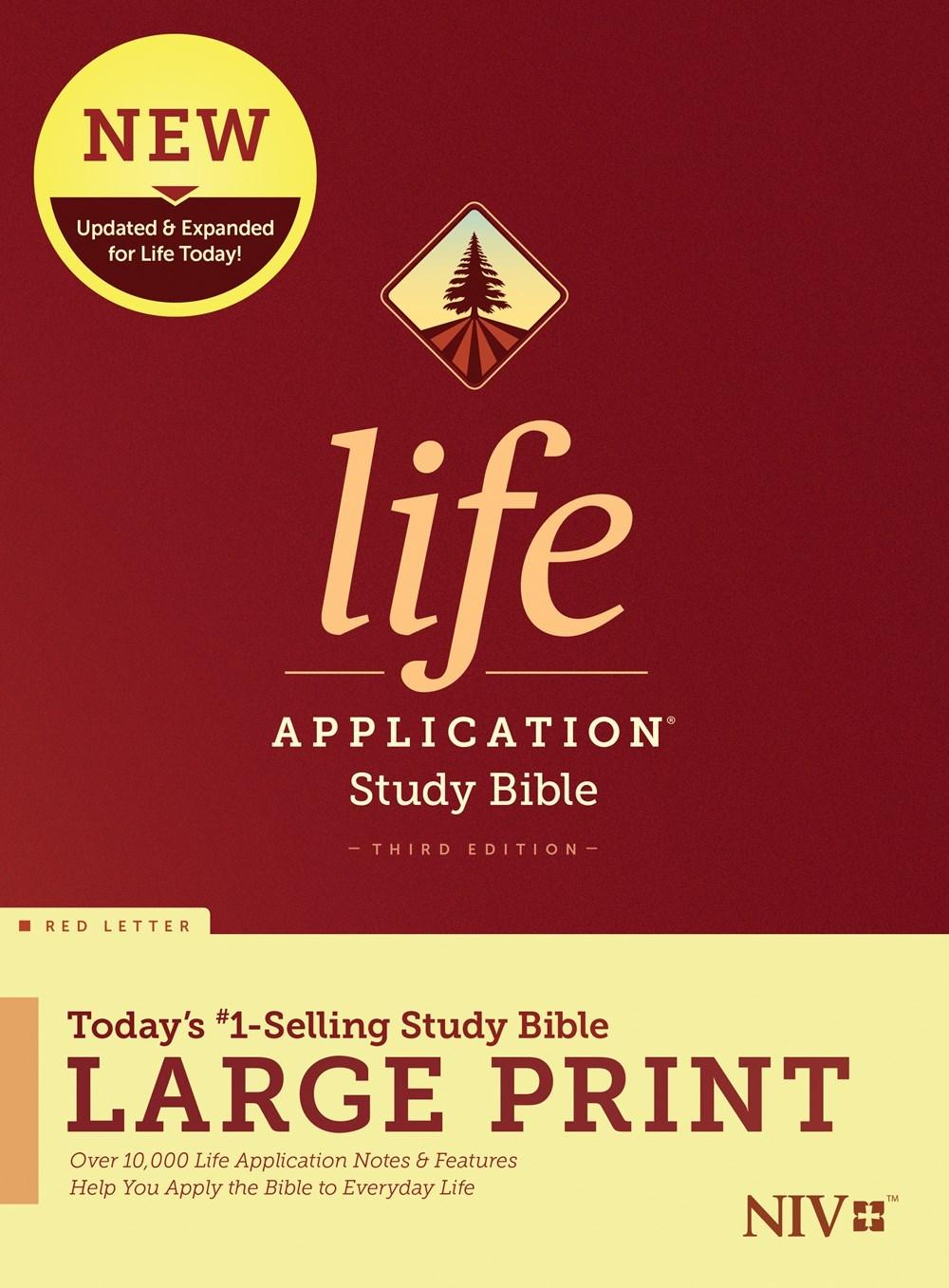 NIV Life Application Study Bible/Large Print (Third Edition) (RL)-Hardcover