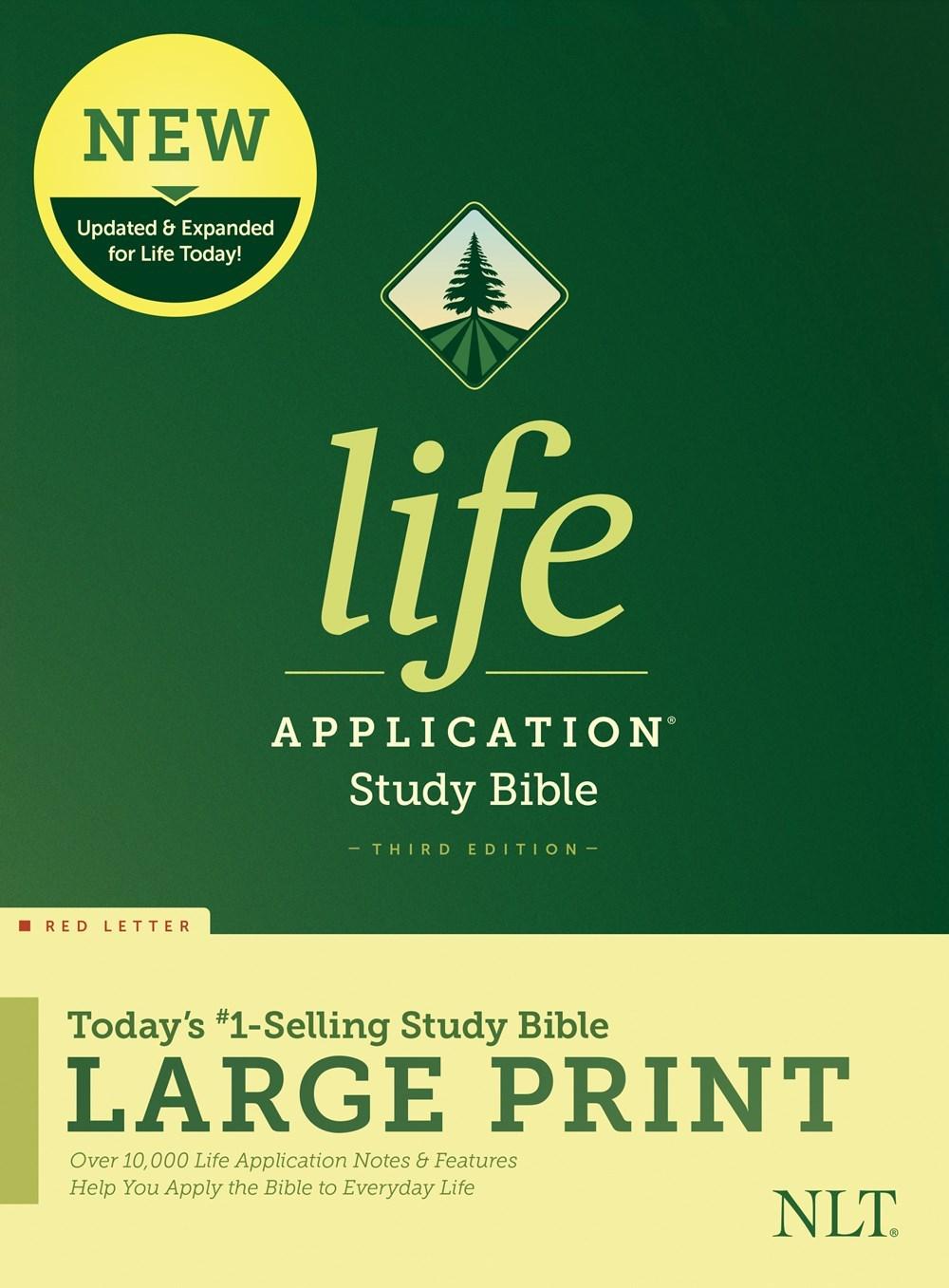 NLT Life Application Study Bible/Large Print (Third Edition) (RL)-Hardcover