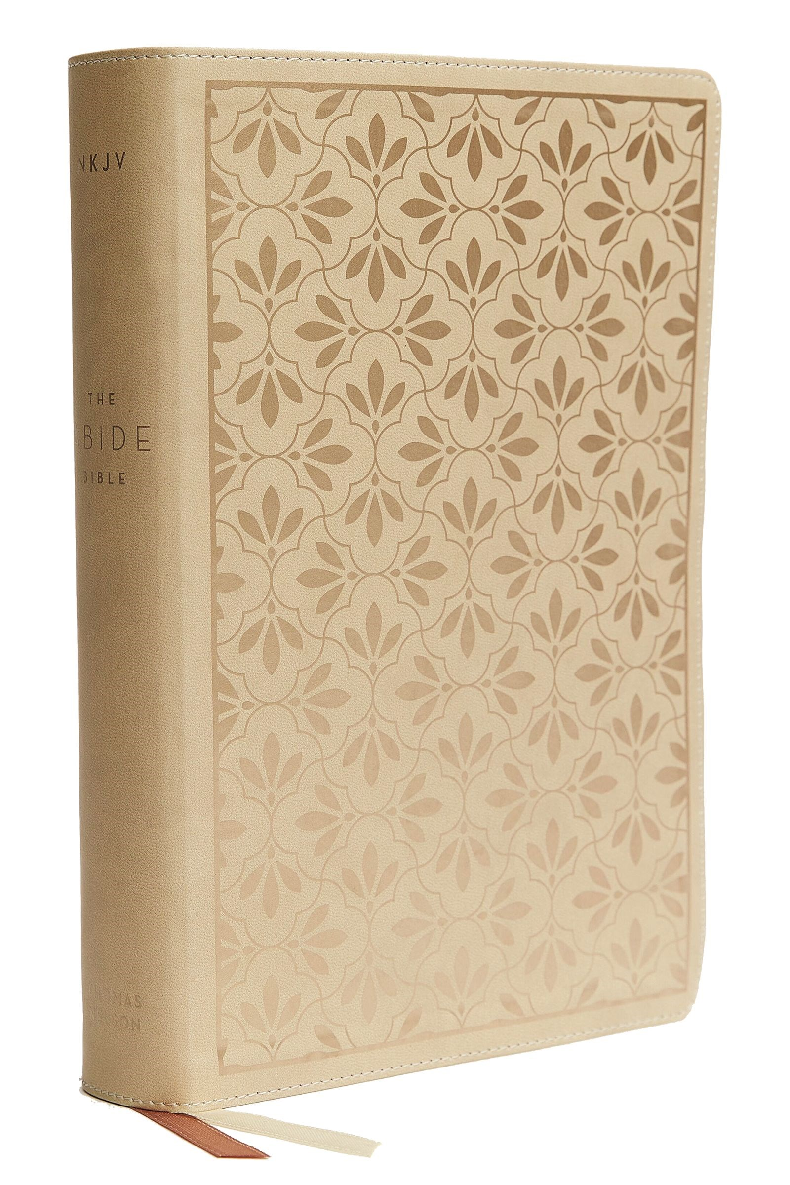 NKJV Abide Bible (Comfort Print)-Stone Leathersoft