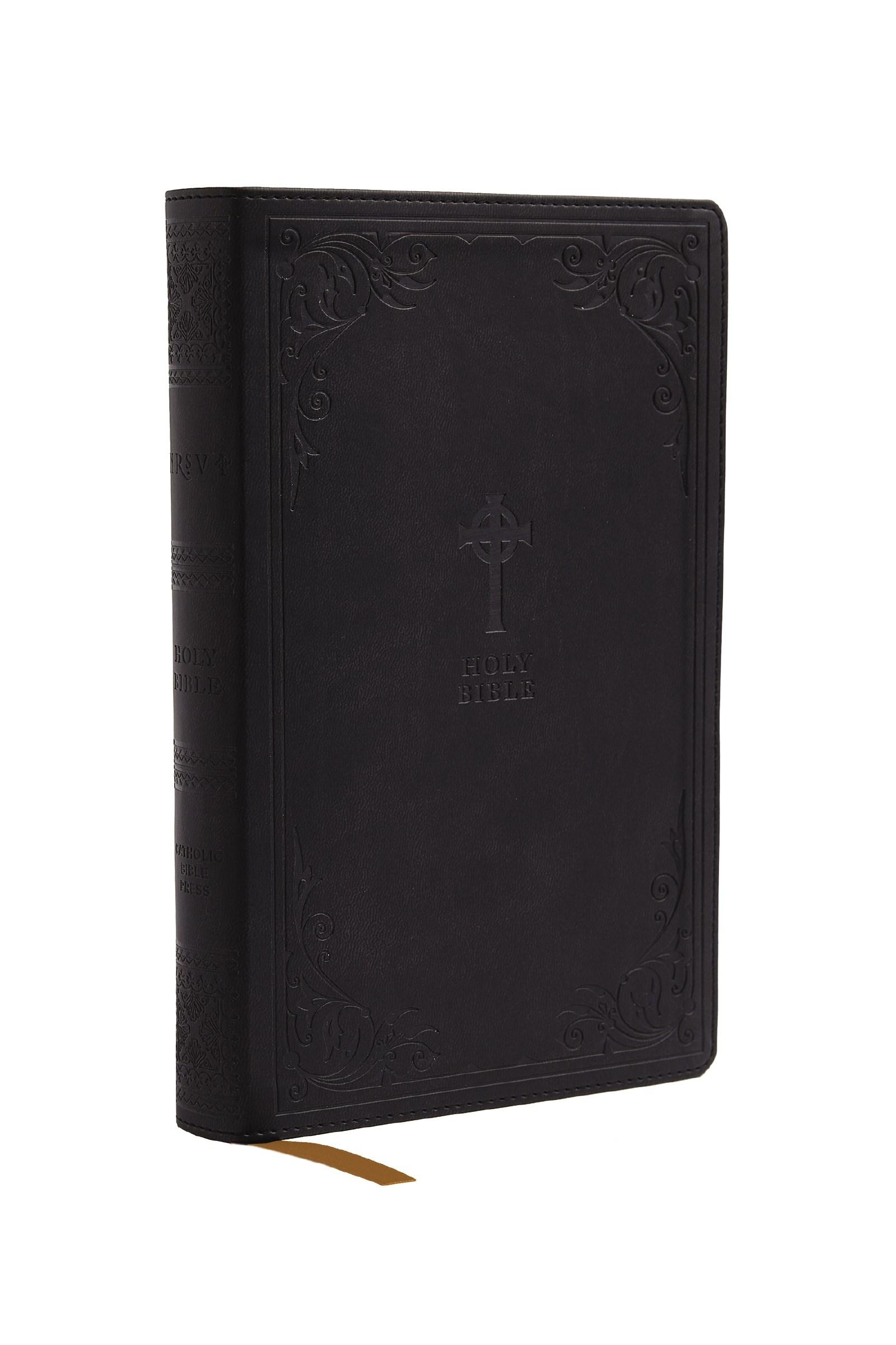 NRSV Catholic Gift Bible (Comfort Print)-Black Leathersoft