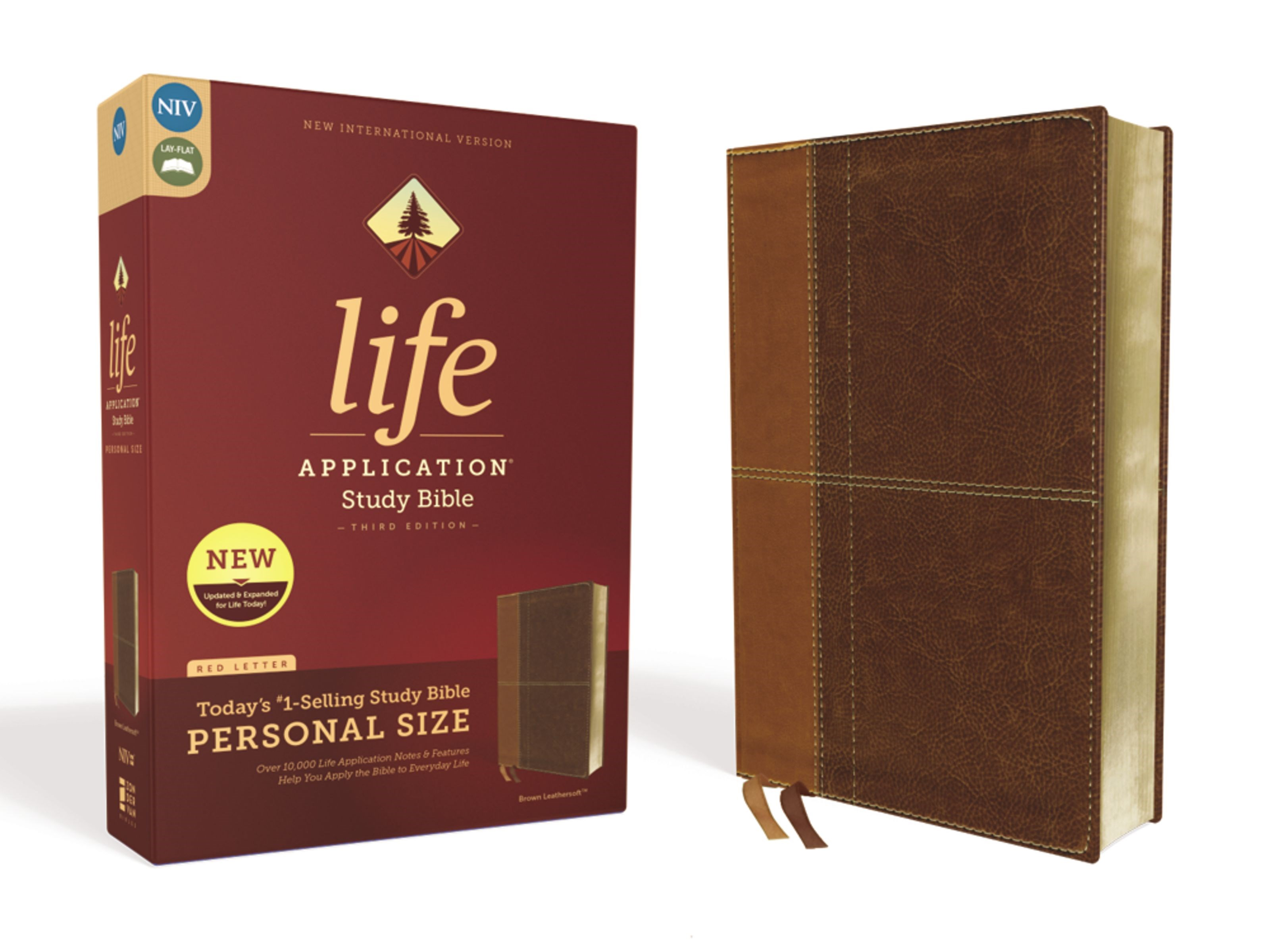 NIV Life Application Study Bible/Personal Size (Third Edition)-Brown Leathersoft