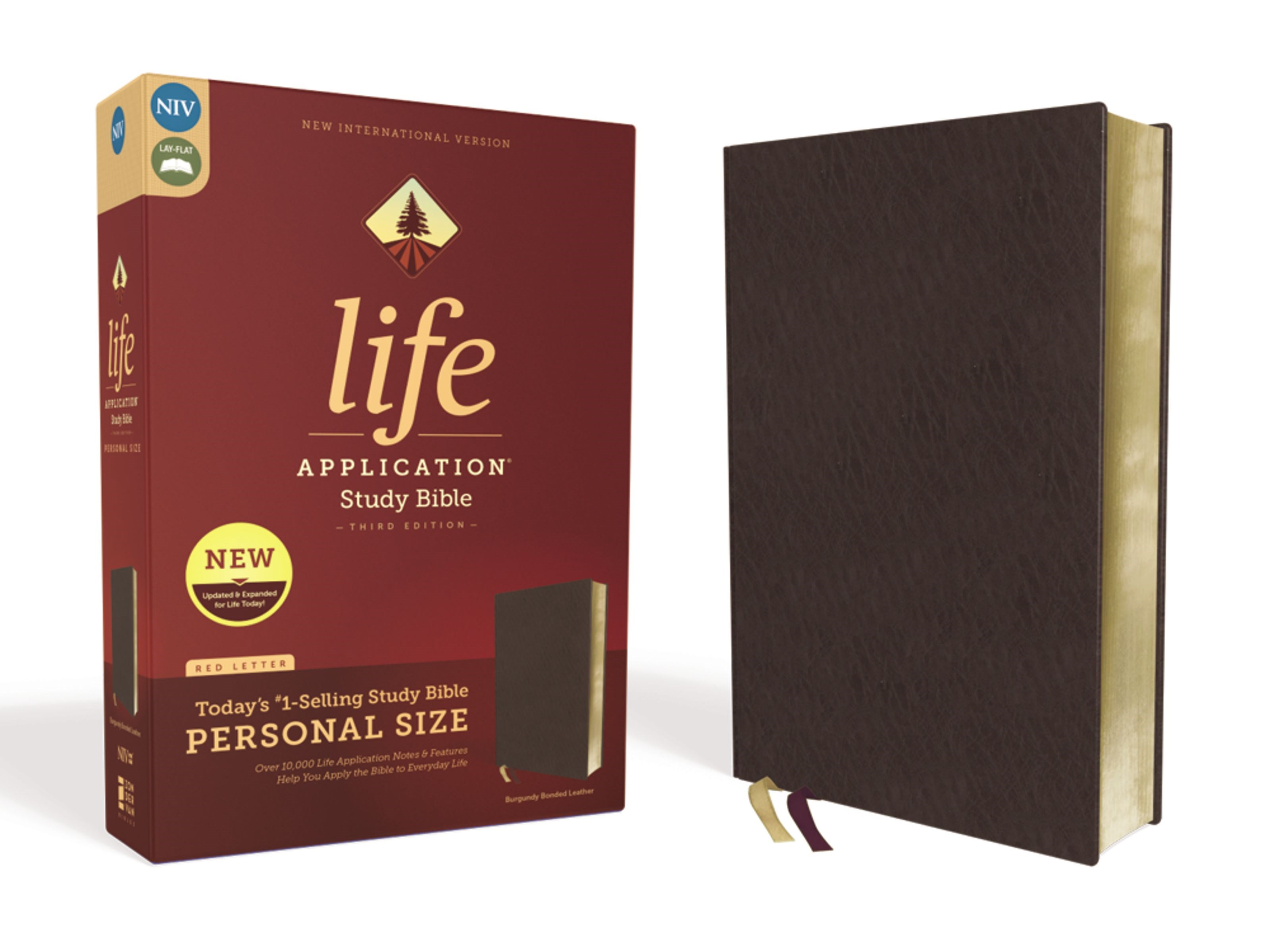 NIV Life Application Study Bible/Personal Size (Third Edition)-Burgundy Bonded Leather