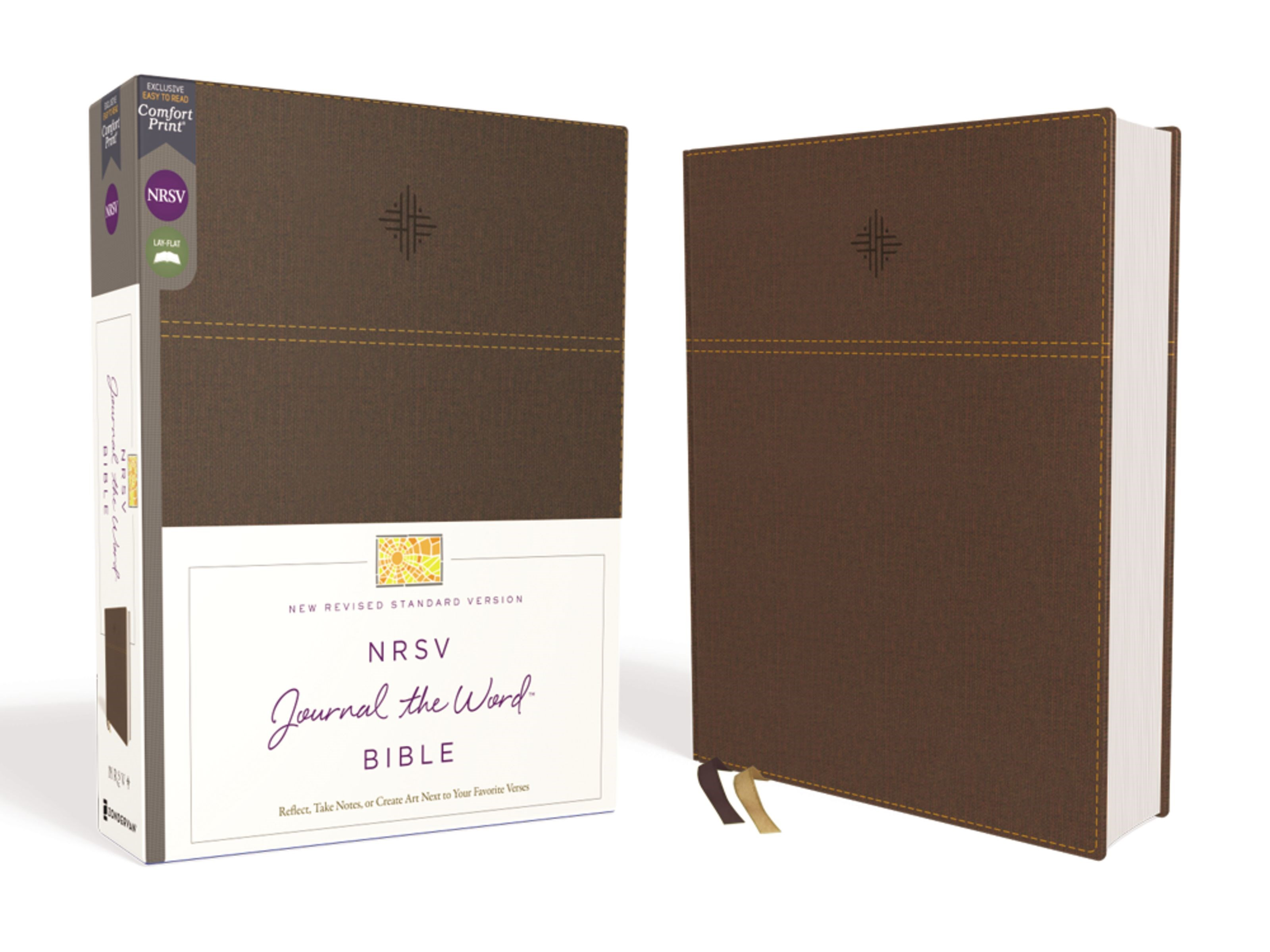 NRSV Journal The Word Bible (Comfort Print)-Brown Leathersoft