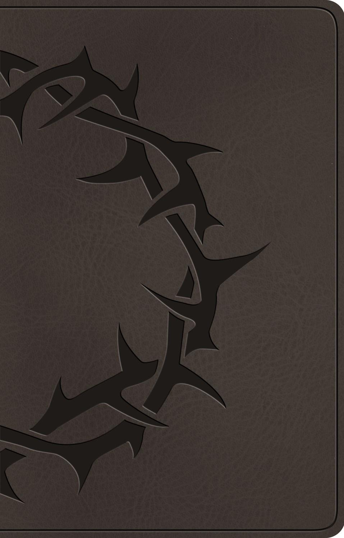 ESV Premium Gift Bible-Charcoal Crown Design TruTone