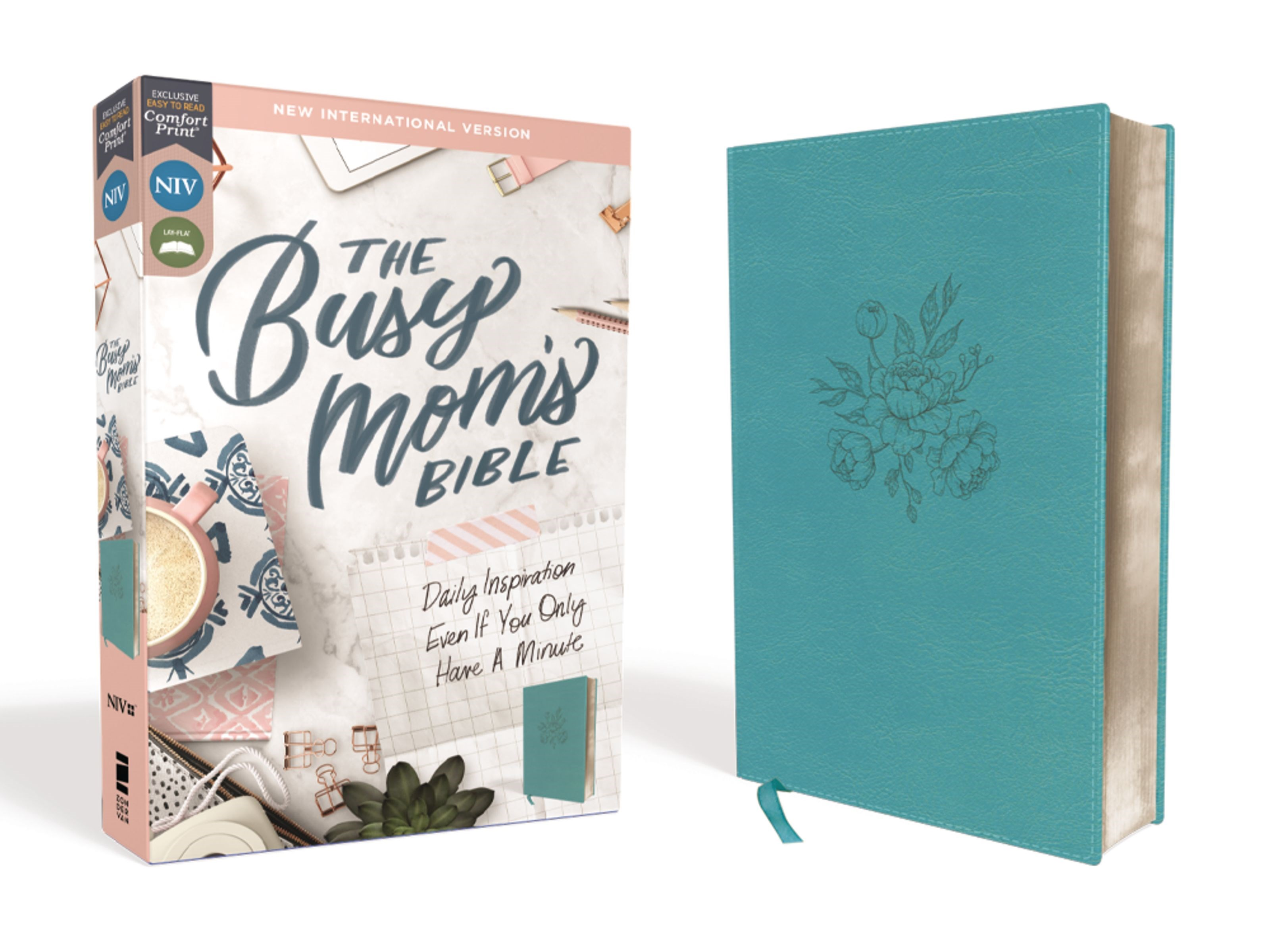NIV The Busy Mom's Bible (Comfort Print)-Teal Leathersoft