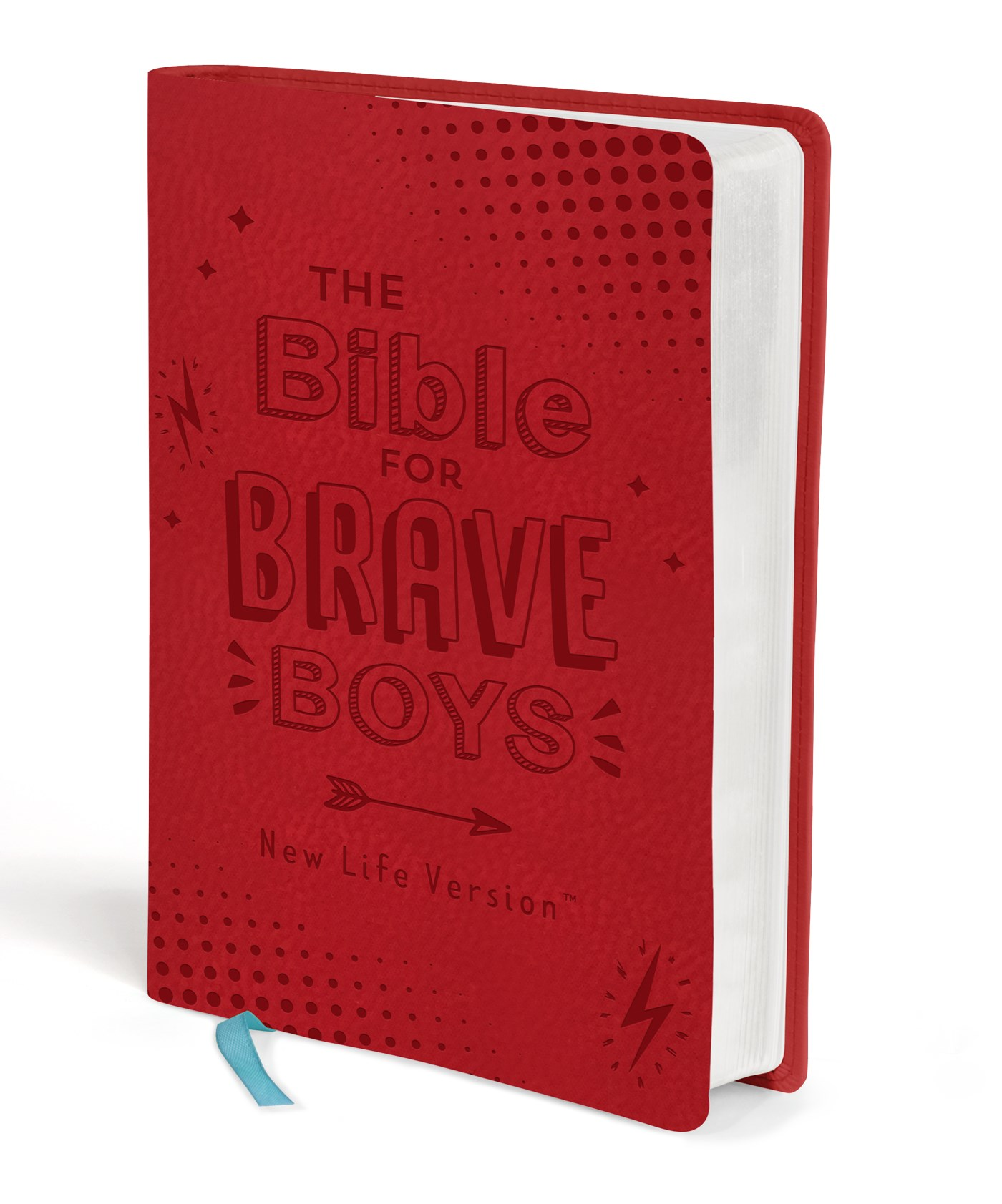 NLV The Bible For Brave Boys-Red DiCarta