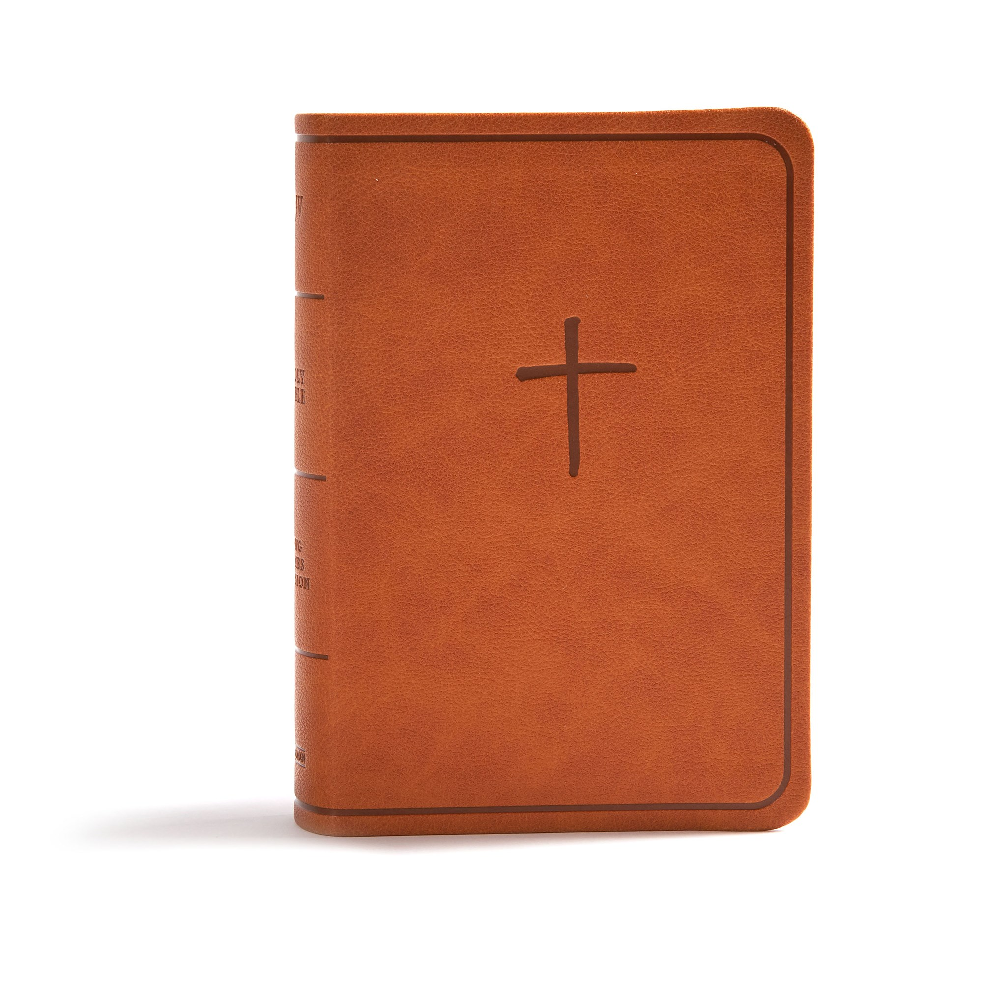 CSB On-The-Go Bible-Ginger LeatherTouch
