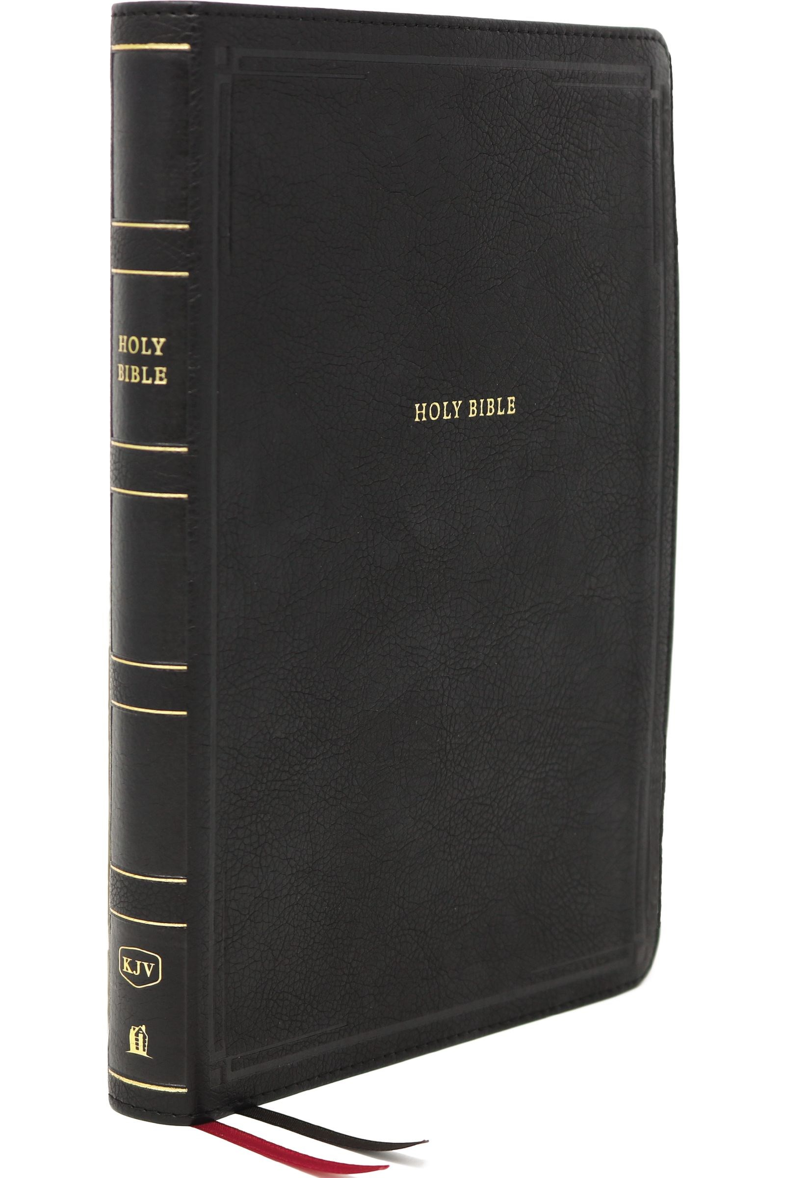 KJV Thinline Bible/Giant Print (Comfort Print)-Black Leathersoft Indexed