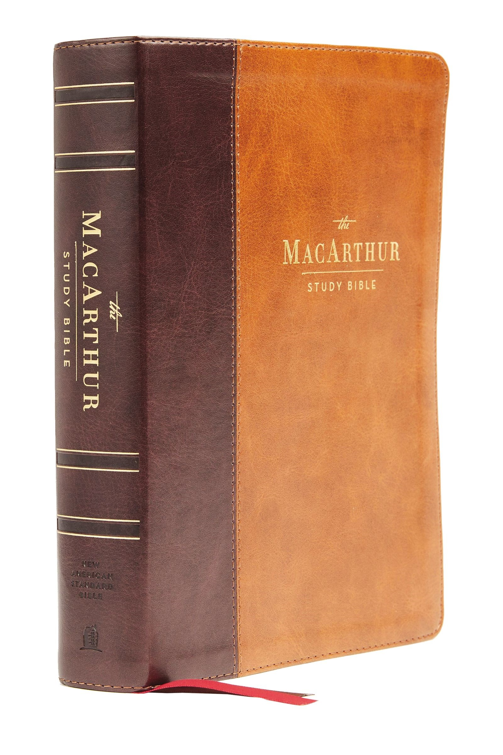 NASB MacArthur Study Bible (2nd Edition) (Comfort Print)-Mahogany Leathersoft Indexed