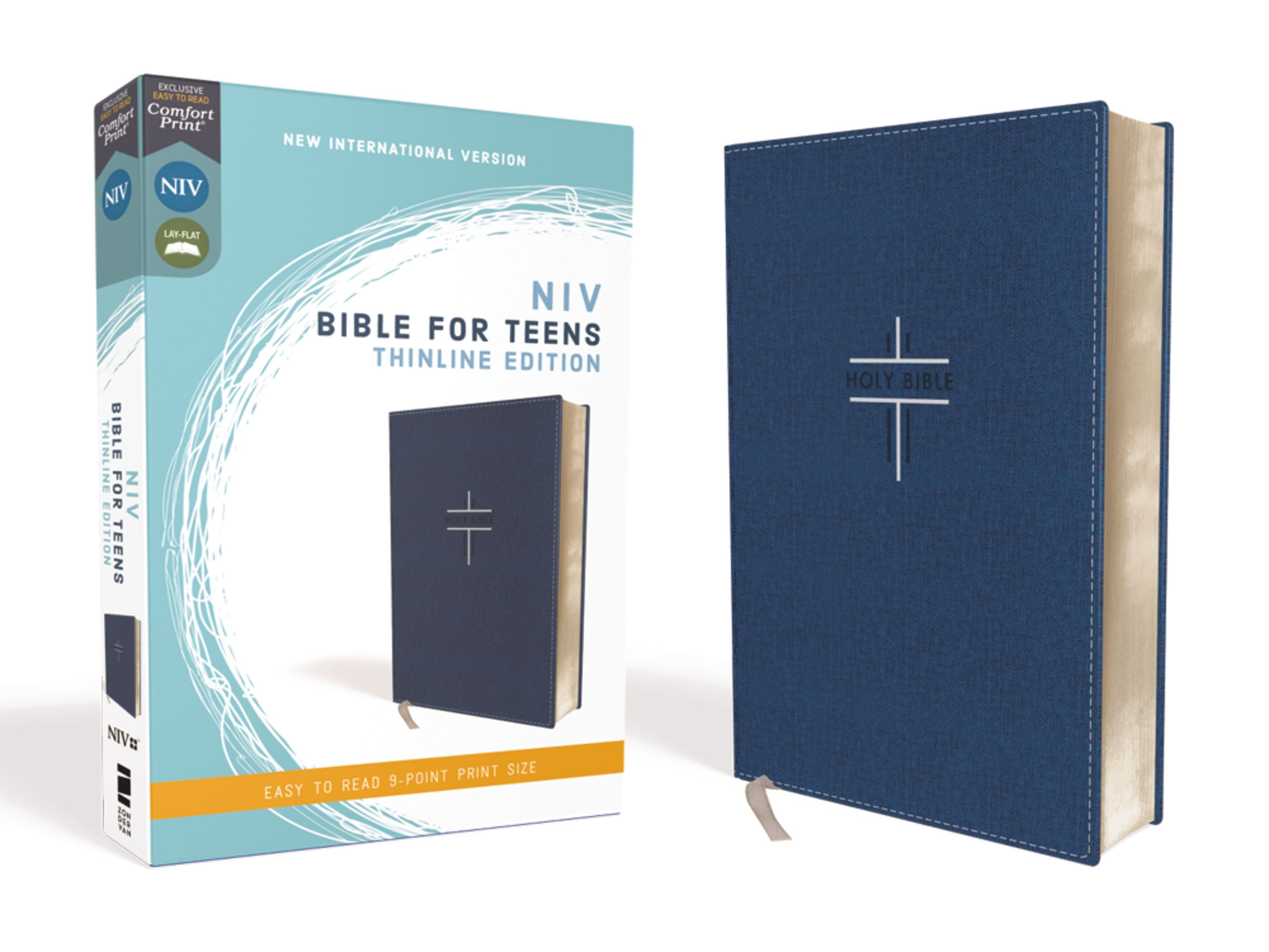 NIV Thinline Bible For Teens (Comfort Print)-Blue Leathersoft