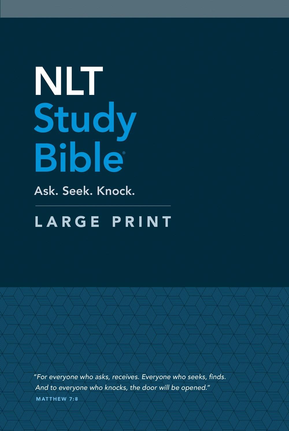 NLT Study Bible/Large Print-Hardcover