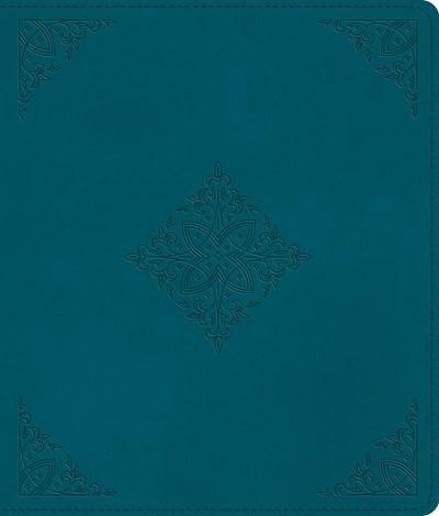 ESV Journaling Bible-Deep Teal  Fleur-De-Lis Design TruTone