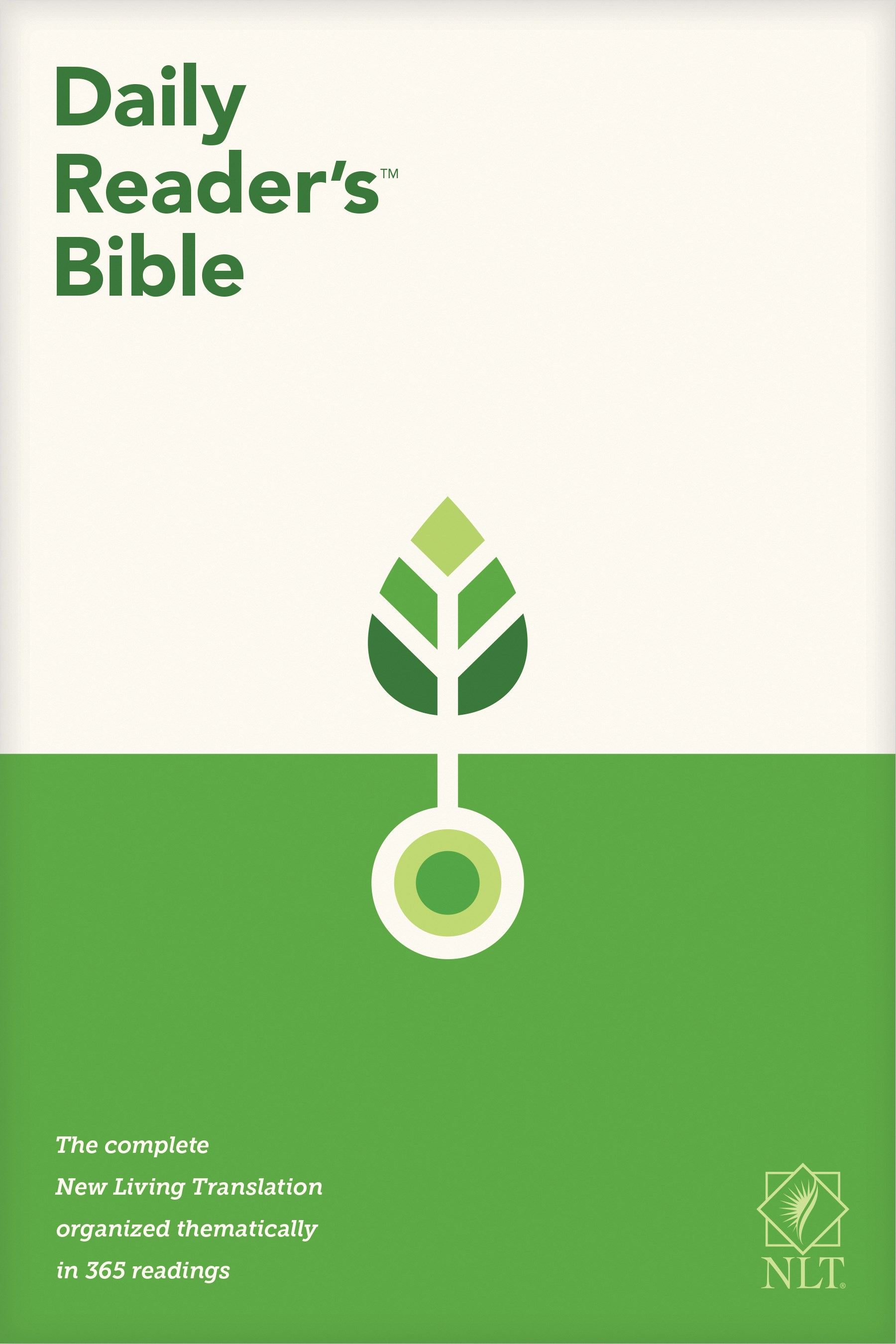 NLT Daily Reader's Bible-Hardcover