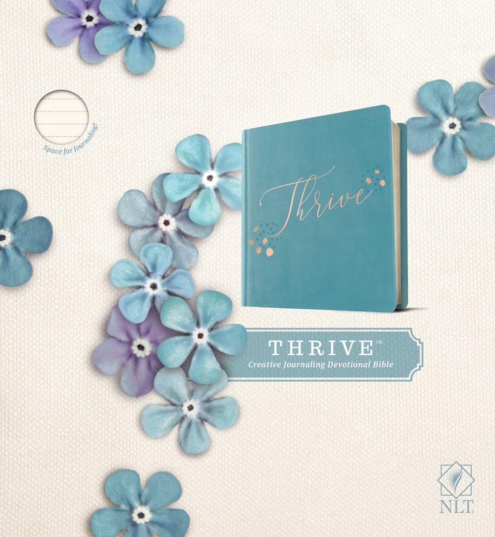 NLT Thrive Bible-Teal Blue w/Rose Gold Hardcover