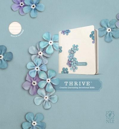 NLT Thrive Bible-Blue Floral Hardcover