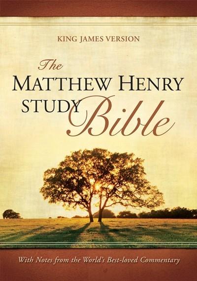 KJV Matthew Henry Study Bible-Black Bonded Leather