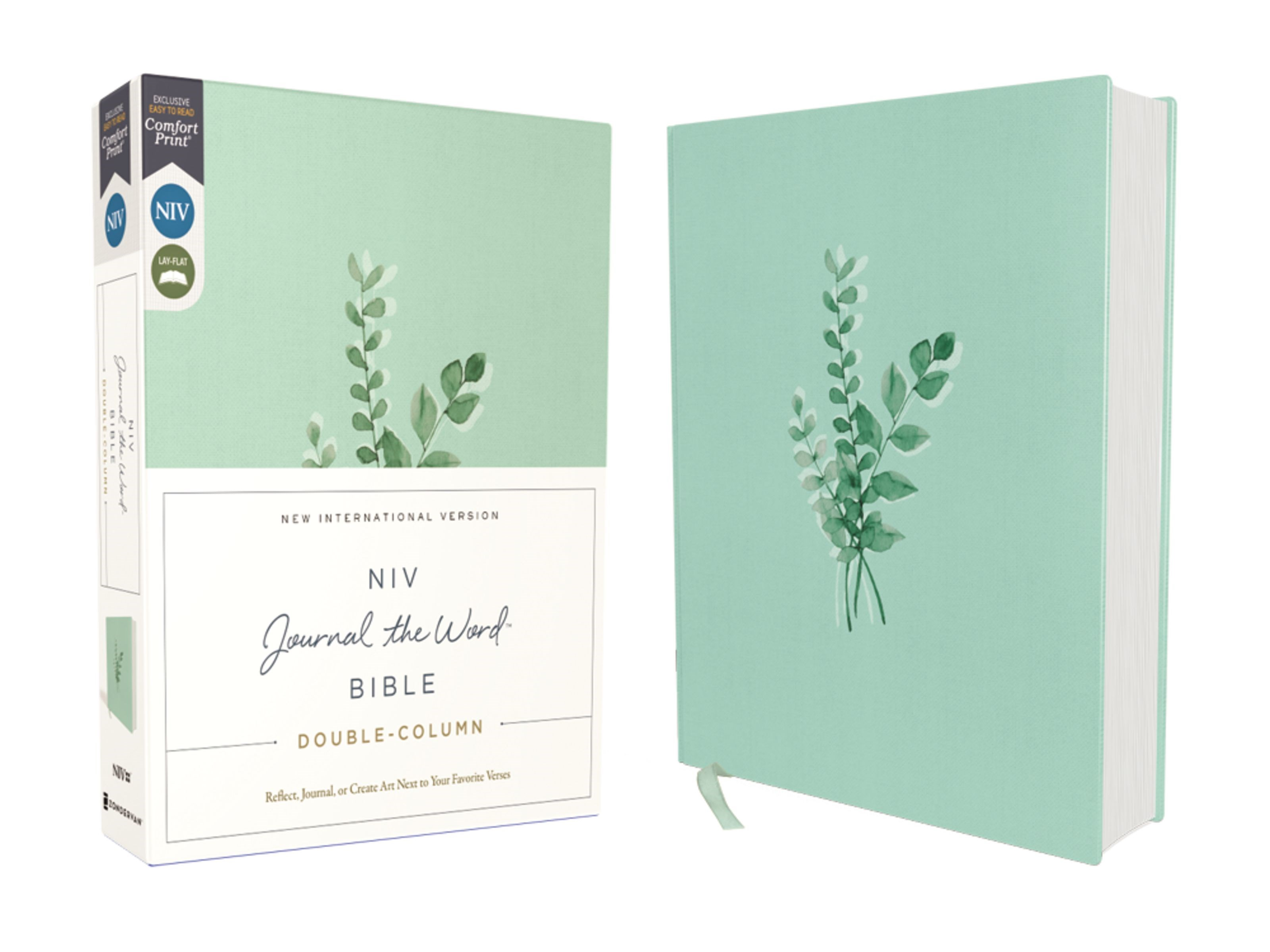 NIV Journal The Word Bible  Double-Column (Comfort Print)-Teal Cloth Over Board