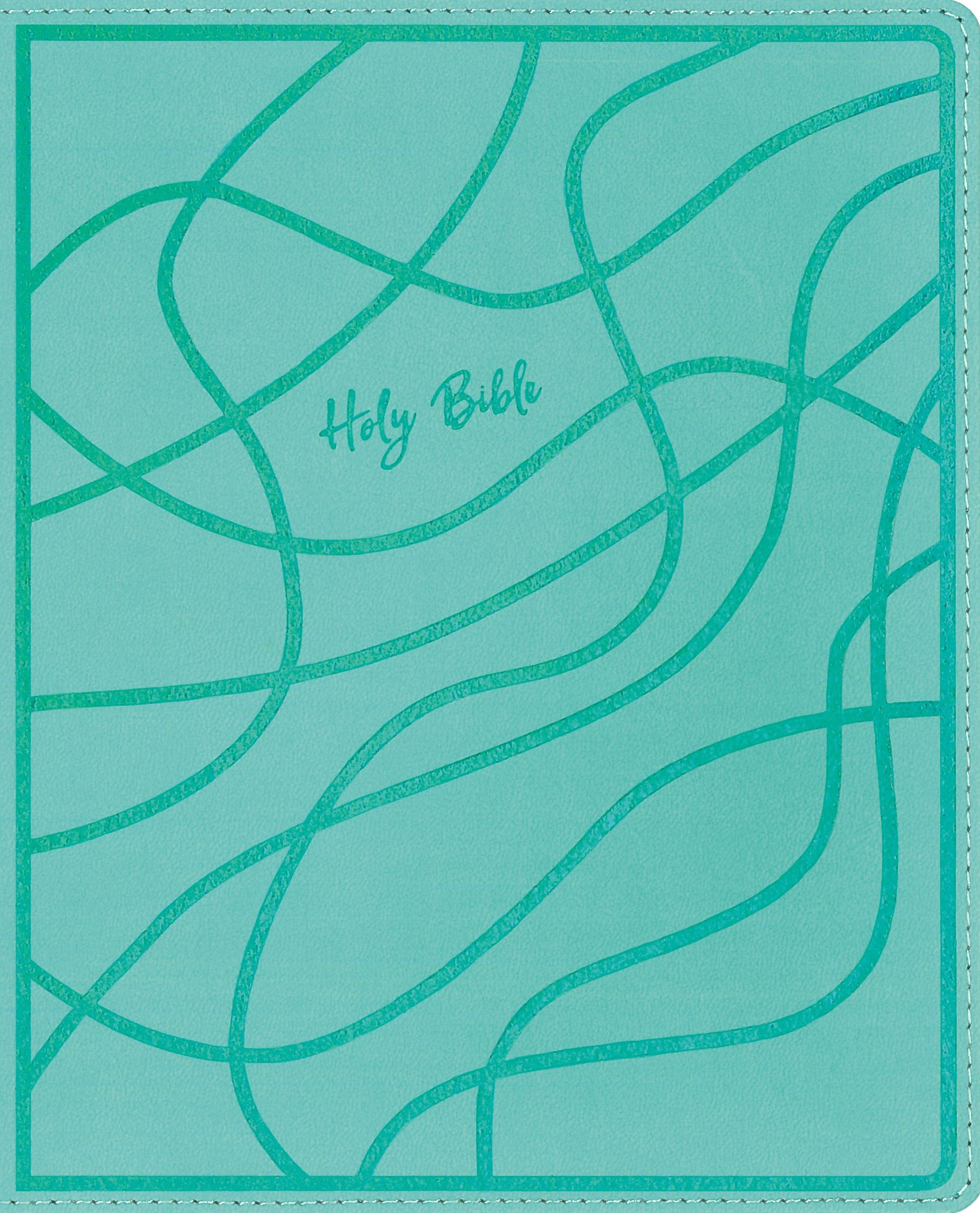 NIV Verse Mapping Bible For Girls (Comfort Print)-Teal Leathersoft