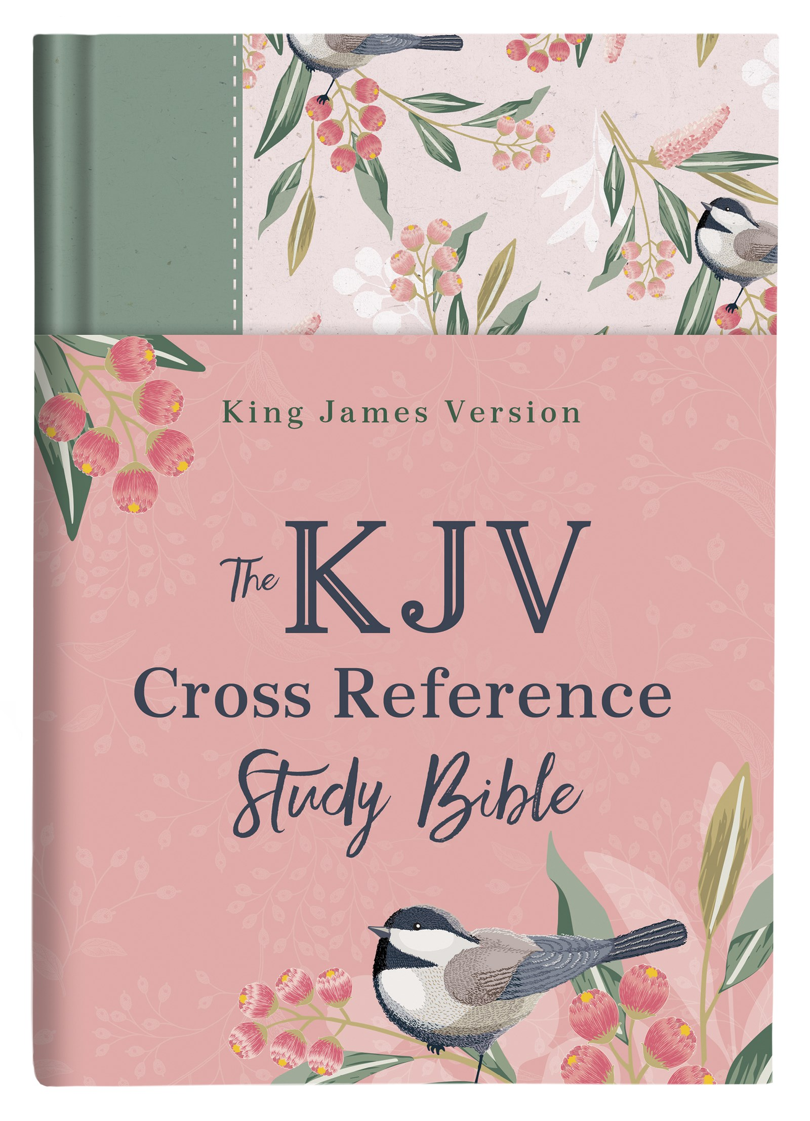 KJV Cross Reference Study Bible-Sage Songbird Hardcover