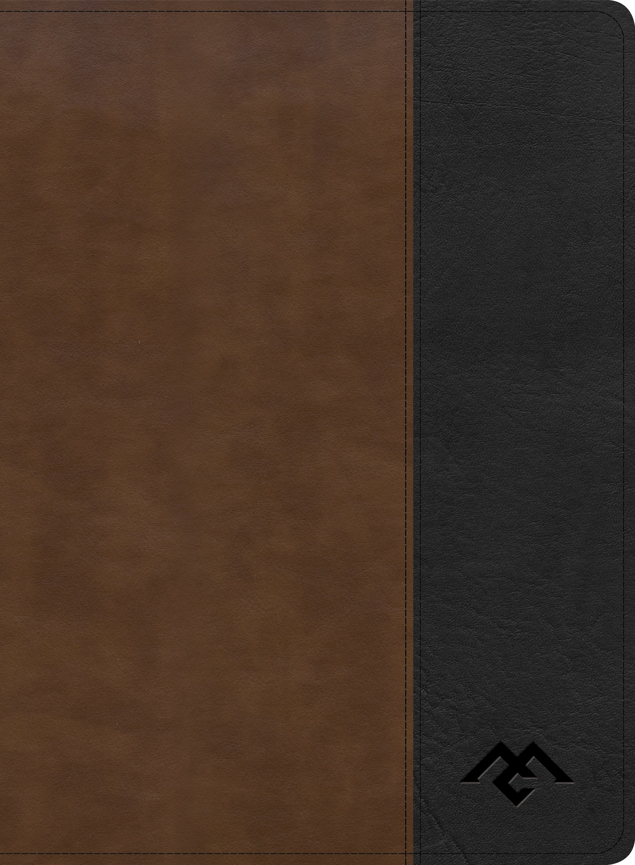 CSB Men Of Character Bible-Brown/Black LeatherTouch