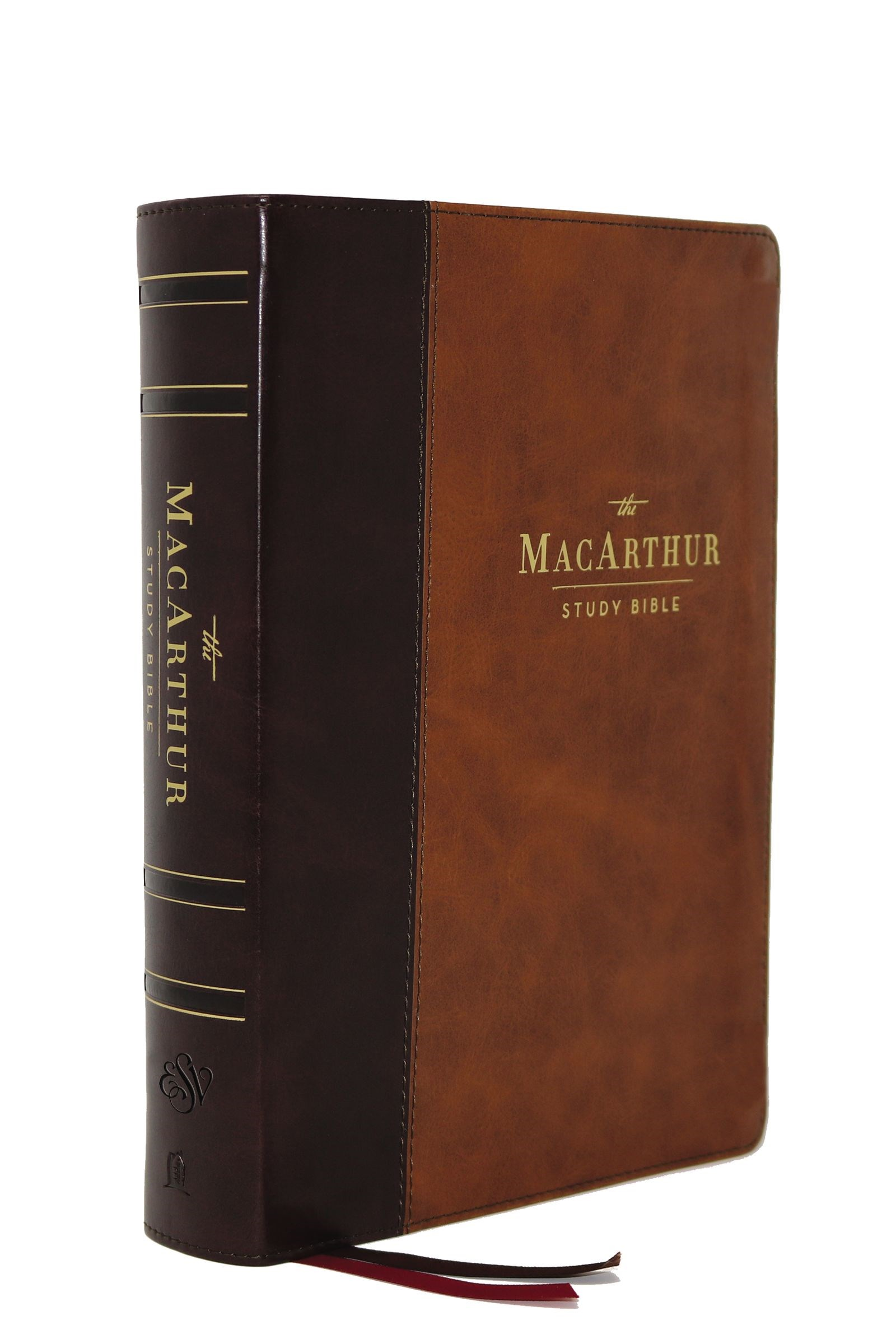 ESV MacArthur Study Bible (2nd Edition)-Brown Leathersoft