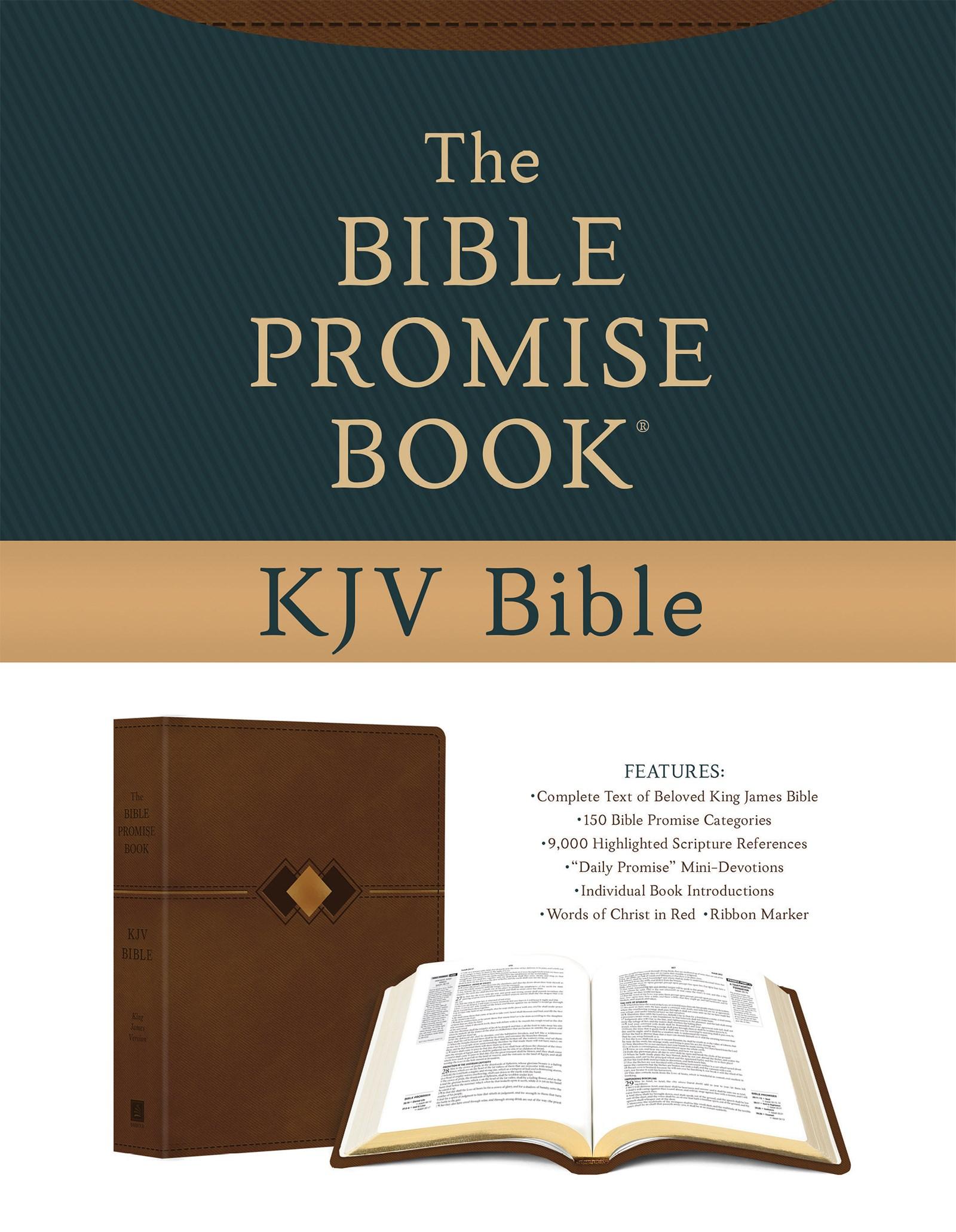 KJV The Bible Promise Book Bible-Hickory Diamond DiCarta Imitation Leather