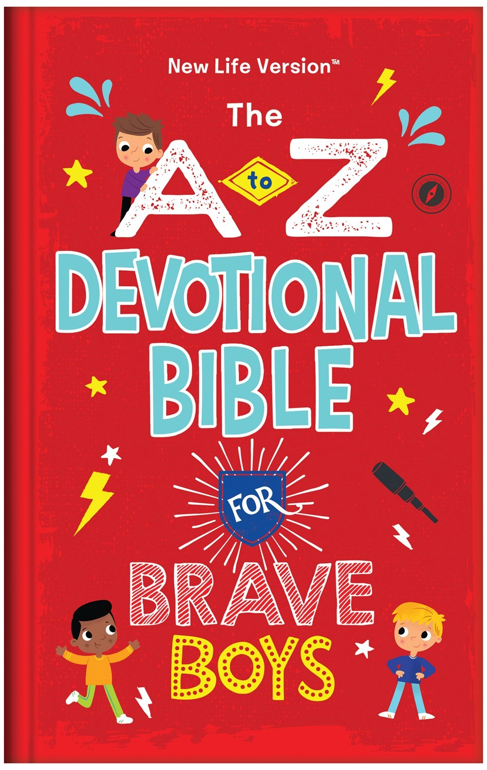 NLT The A To Z Devotional Bible For Brave Boys-Hardcover