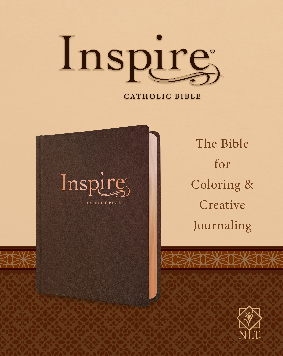 NLT Inspire Catholic Bible-Dark Brown LeatherLike