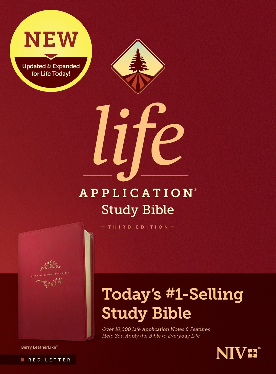 NIV Life Application Study Bible (Third Edition)-Berry LeatherLike (RL)