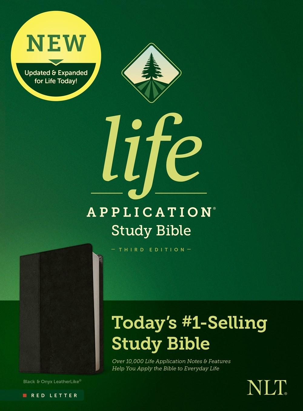 NLT Life Application Study Bible (Third Edition)-RL-Black/Onyx LeatherLike