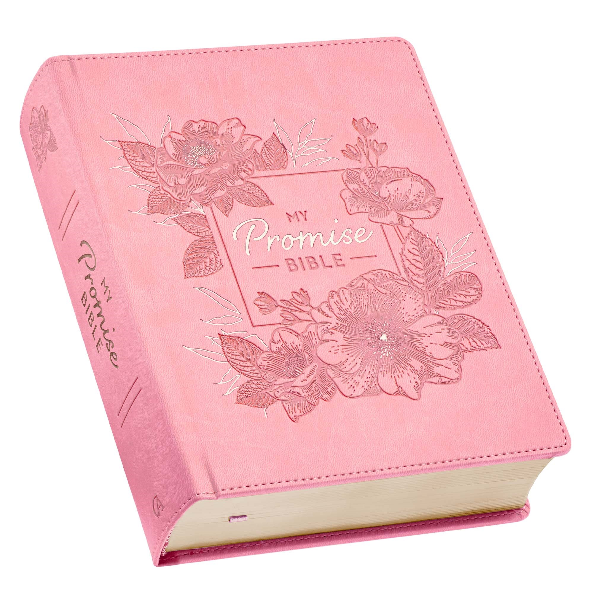 KJV My Promise Bible-Pink Square Faux Leather Hardcover