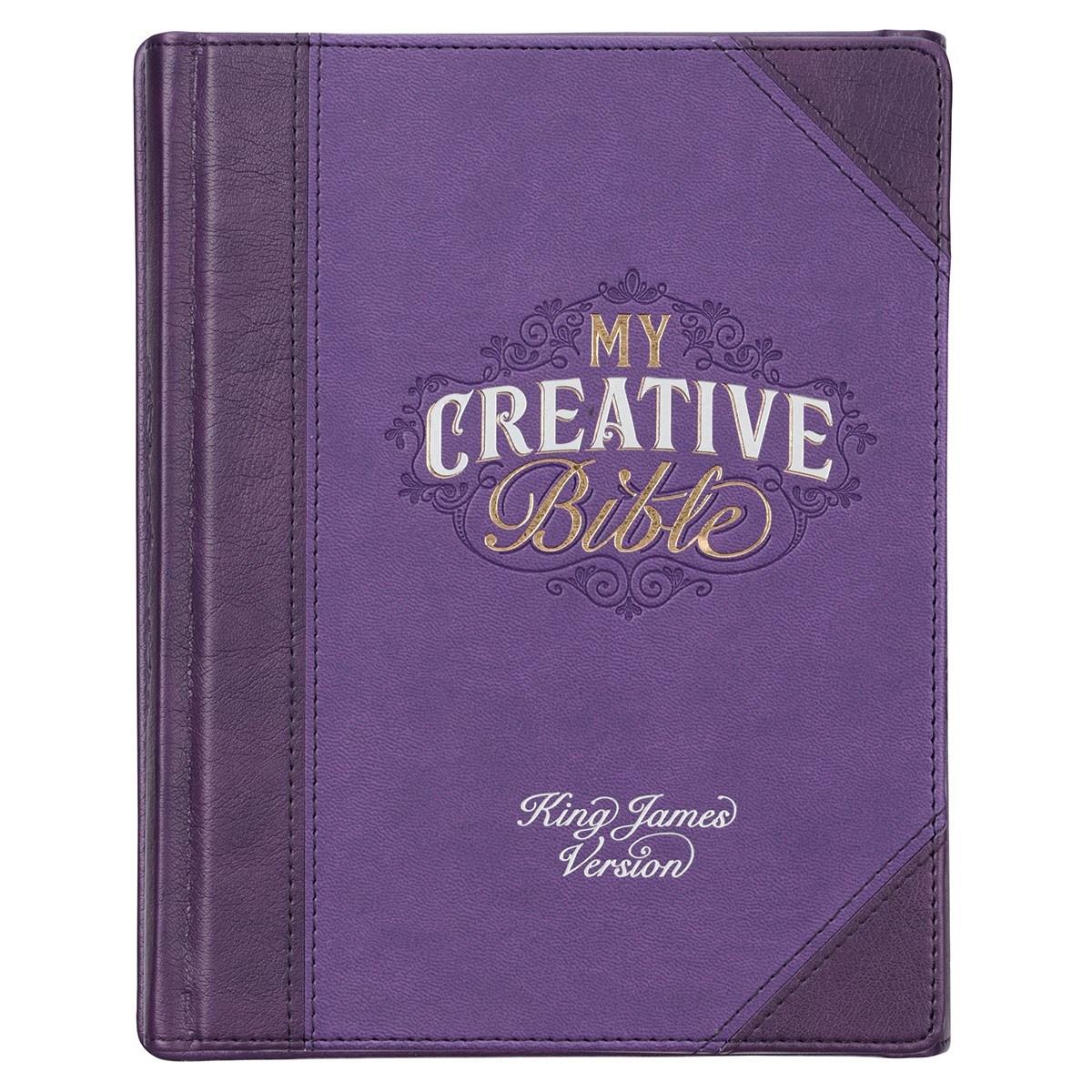 KJV My Creative Bible-Purple Faux Leather Hardcover