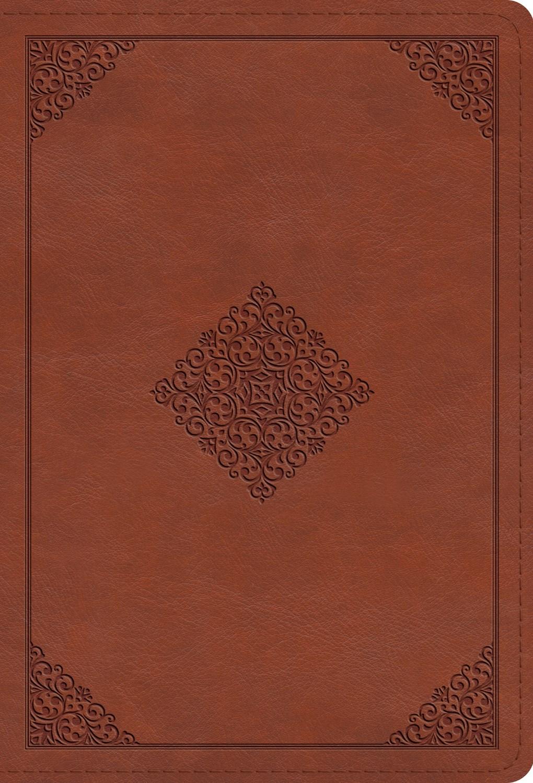 ESV Large Print Compact Bible-Terracotta  Ornament Design TruTone