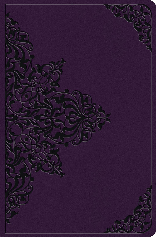ESV Value Compact Bible-Lavender  Filgree Design TruTone