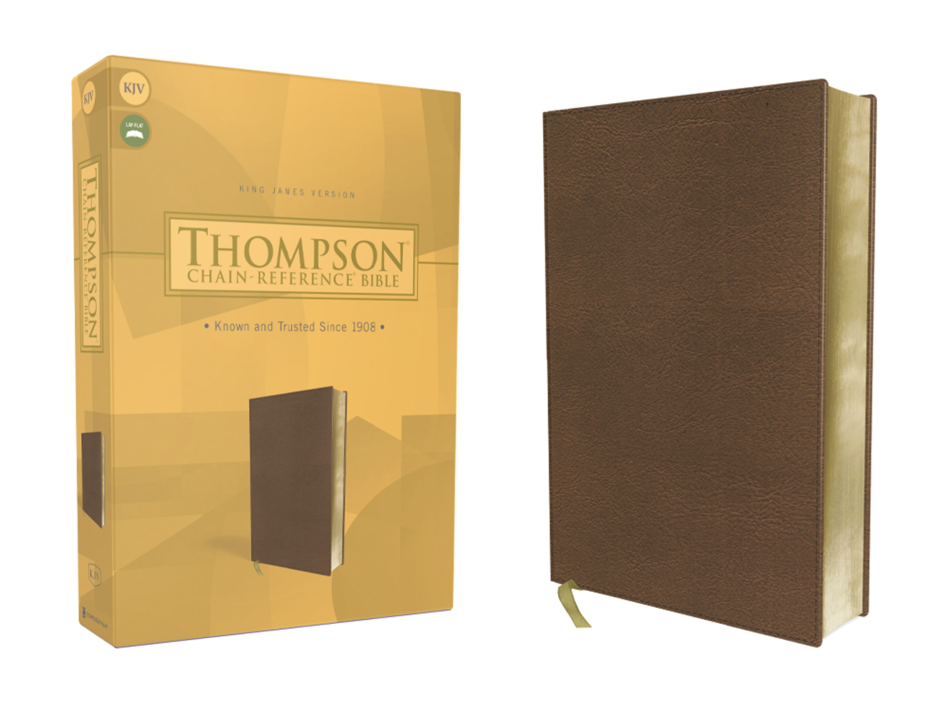 KJV Thompson Chain-Reference Bible-Brown Leathersoft