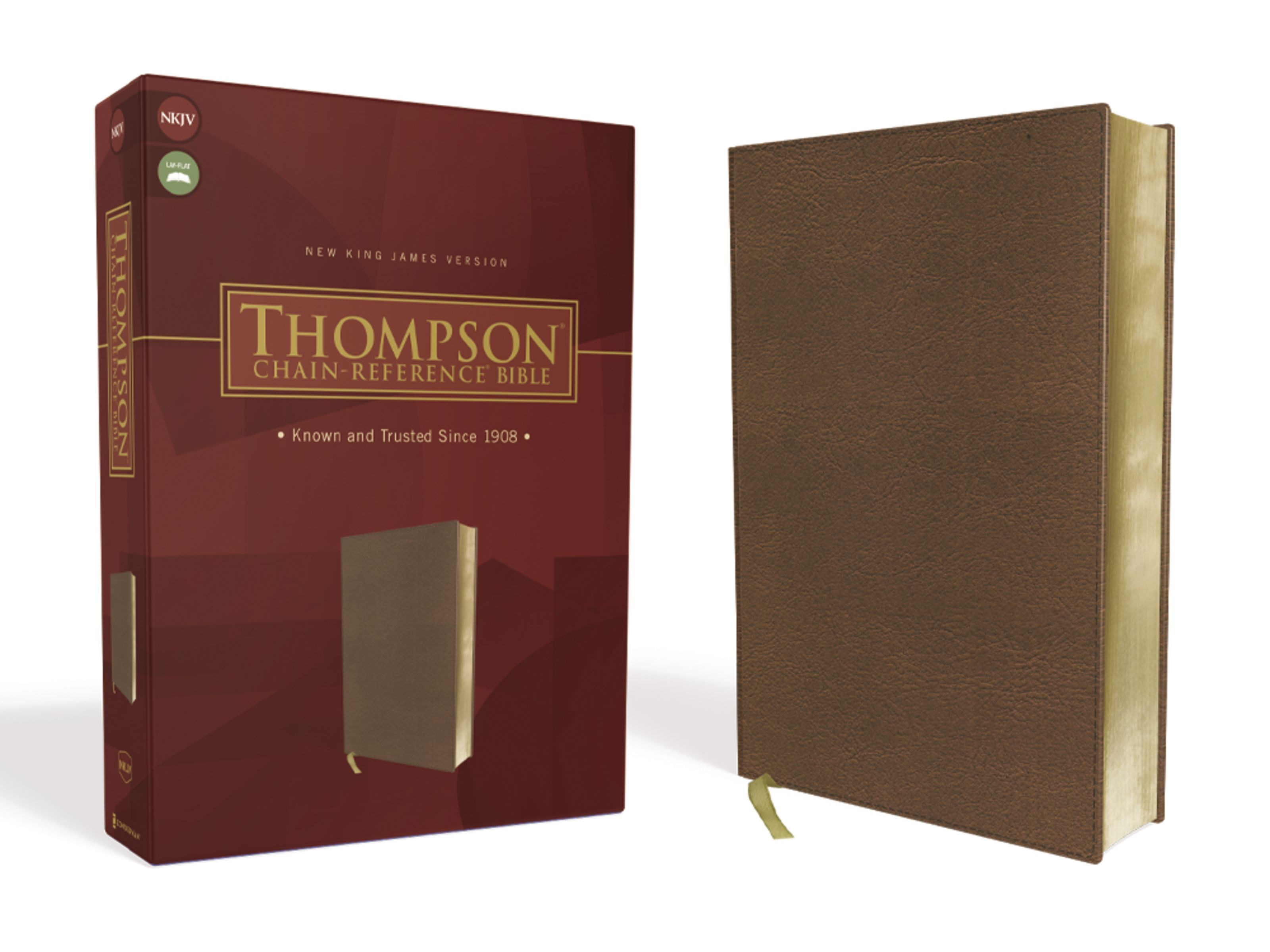 NKJV Thompson Chain-Reference Bible-Brown Leathersoft